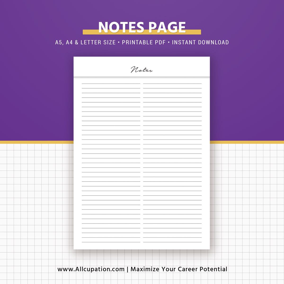 resume templates notepad
