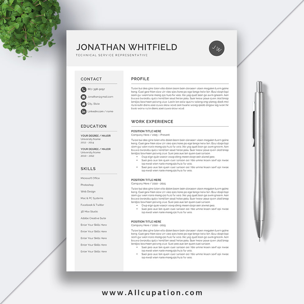editable cv template design