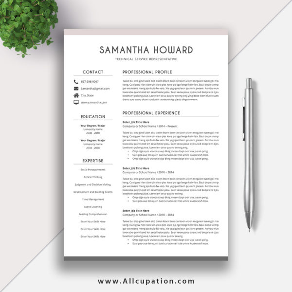 2018 clean resume templates