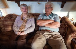 Norm and Betty Jo Anderson have lived in Piketon, Ohio since the mid-1950s, when Norm started working at the Portsmouth Gaseous Diffusion Plant. Photo: Lewis Wallace / WYSO