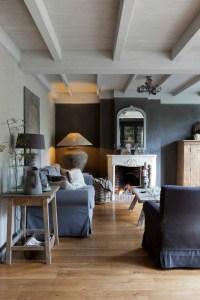Wohnzimmer Design Wandfarbe Grau