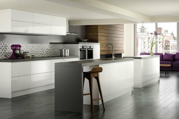▷ Neue Küchenideen - Inspiration für Ihr Zuhause - weisse kuche mit mosaikfliesen
