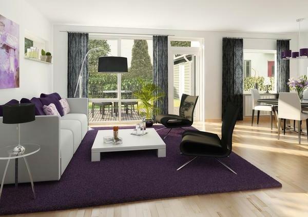 Beautiful Wohnzimmer Weis Schwarz Lila Pictures - Rellik.us - rellik.us