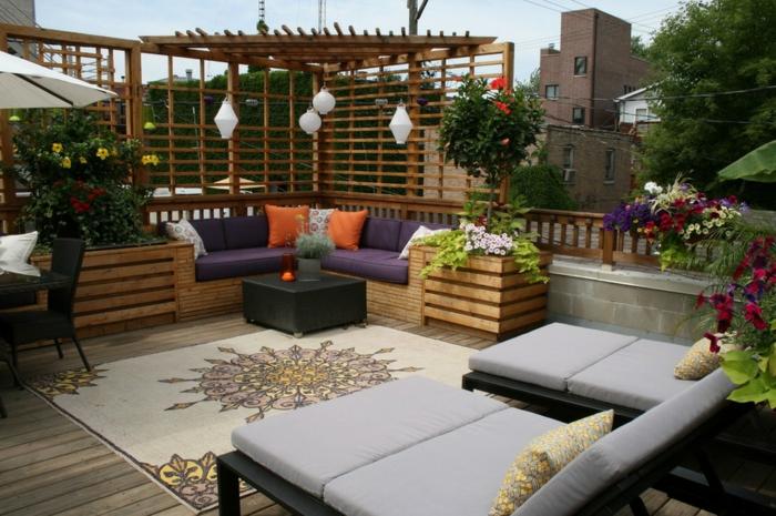 Sonnenterrasse Gestalten Ideen Möbelideen - ideen terrasse gestalten