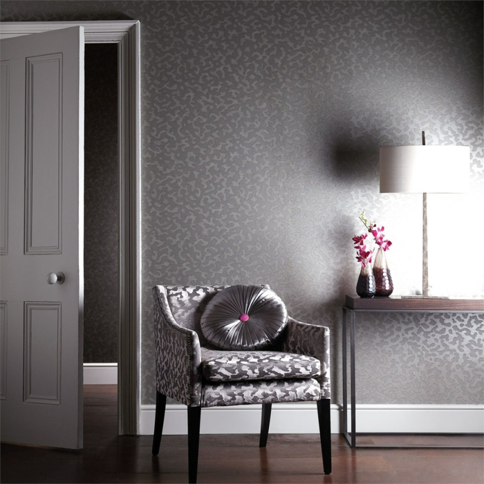 Leopard Animal Print Wallpaper Edle Tapeten Mit Schimmerndem Metallic Glanz