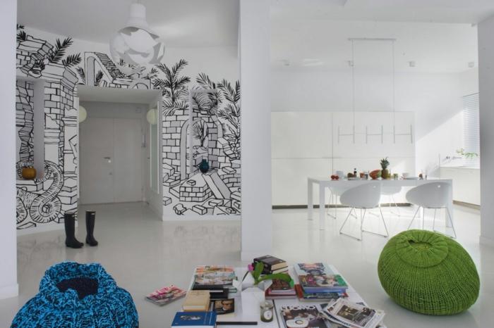 ▷ Wandgestaltung fürs Wohnzimmer - 36 kreative und ideenreiche - kreative wandgestaltung