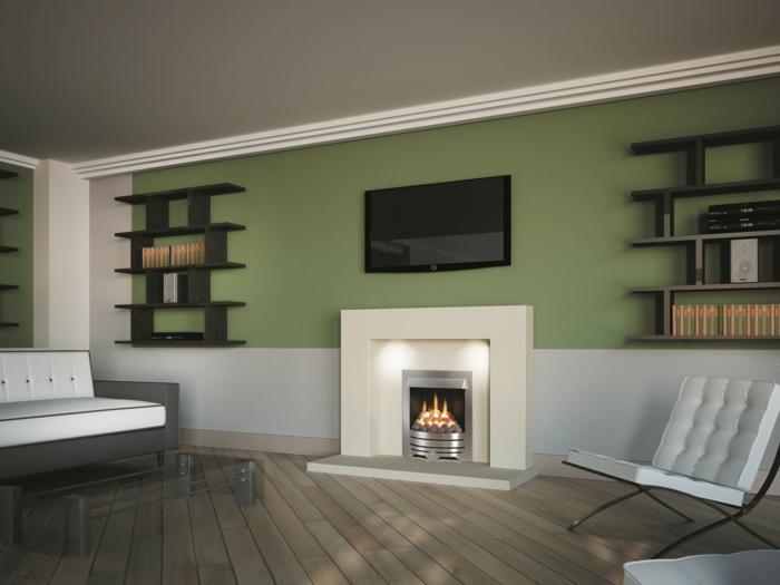 ▷ Wandgestaltung Wohnzimmer - mutige und moderne Wahl! - wandgestaltung wohnzimmer beispiele