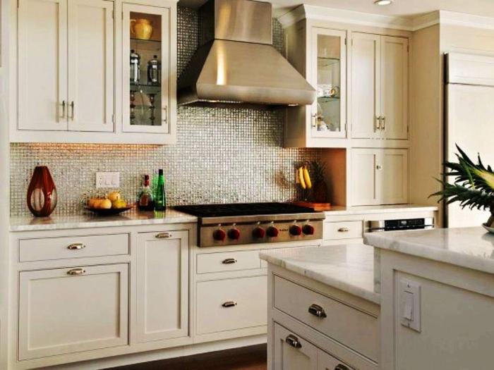 ▷ 1001+ Wohnideen Küche für kleine Räume - Wie gestaltet man - weisse kuche mit mosaikfliesen