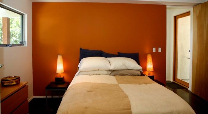 Awesome Wohnzimmer In Orange Braun Und Teakholz Contemporary ...