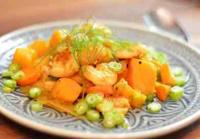 Garnelen-Kürbis-Curry mit Kokosmilch