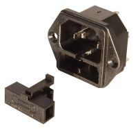 IEC POWER INLET MODULE W/ GMA FUSE HOLDER