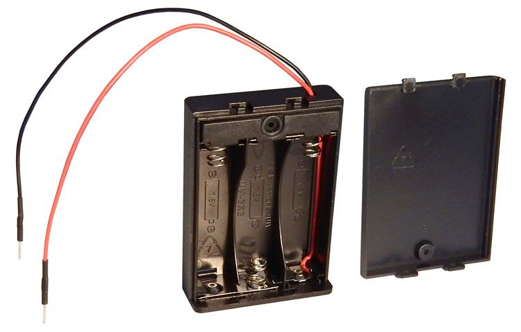 Battery Holder For Breadboarding All Electronics Corp
