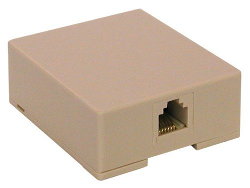 MOD PHONE JACK, 6-WIRE, SURFACE-MOUNT All Electronics Corp