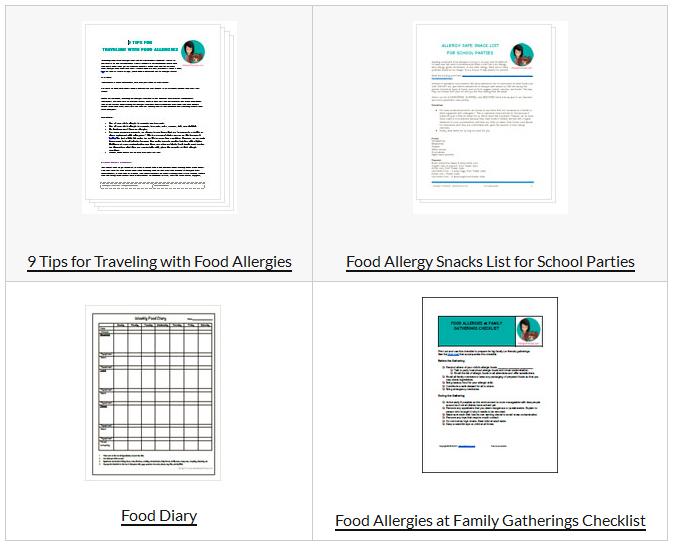 Free Resources - ALLERGIC PRINCESS - Food Allergies