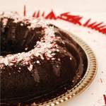 Chocolate Bundt Cake with Dark Peppermint Ganache (GF, DF, Egg, Soy, Peanut/Tree nut Free, Top 8 Free, Vegan)