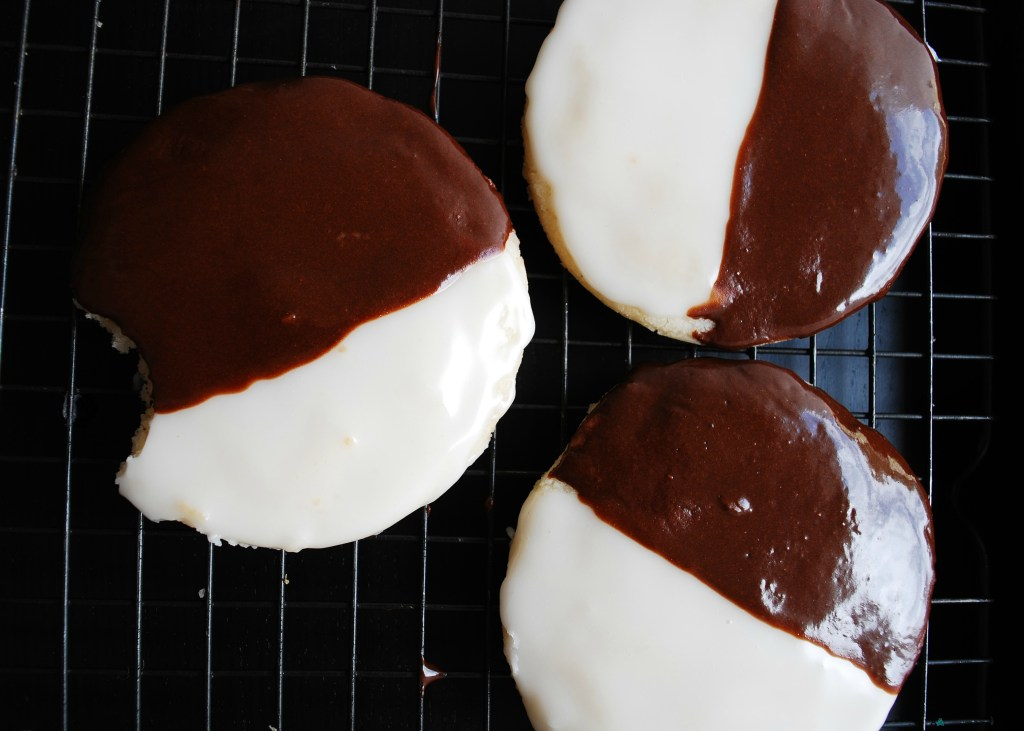 Black & White Cookies (Gluten, dairy, egg, soy, peanut and tree nut free; top 8 free; vegan) Dessert recipe by AllergyAwesomeness.com