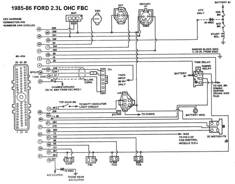 Does anyone have an 1985 Mustang 23L wiring diagram? - Ford Mustang