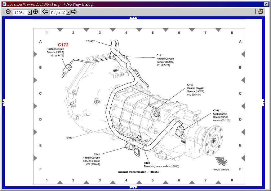 1997 Ford Mustang Wiring Schematic Index listing of wiring diagrams