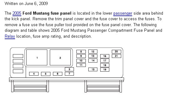 radio wiring diagram for 2008 v6 ford mustang