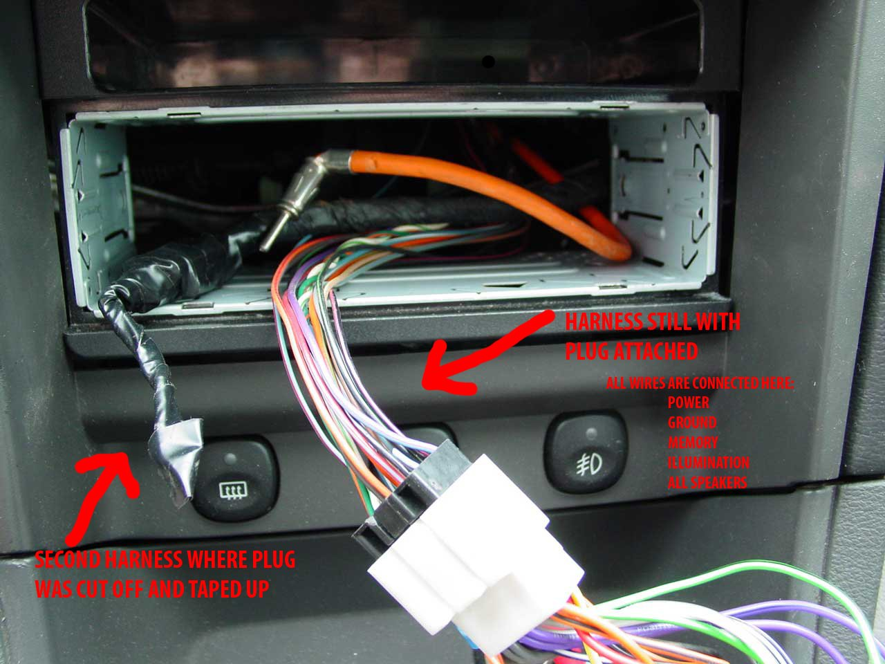 2000 mustang stereo wiring harness