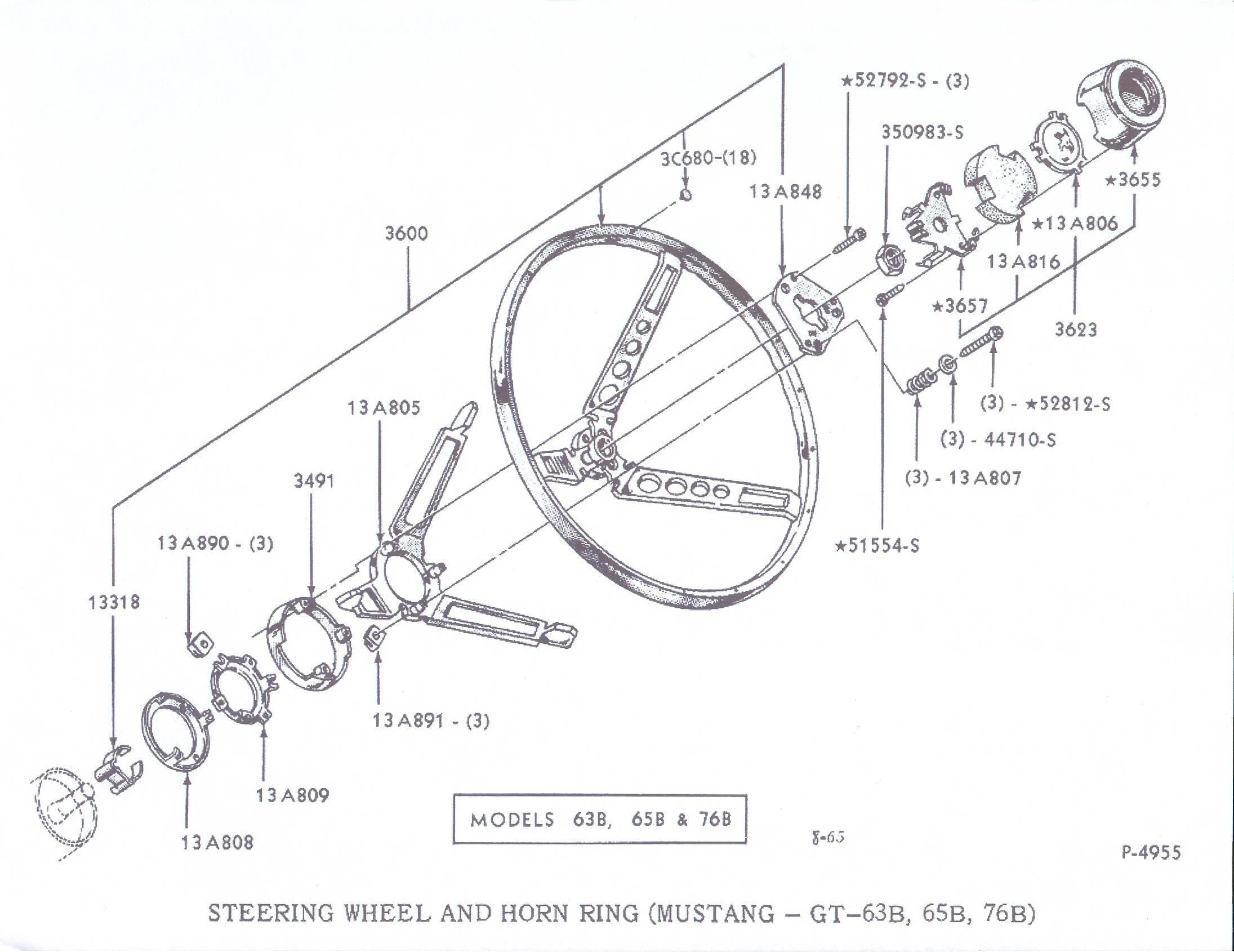 1966 mustang steering wheel bedradings schema