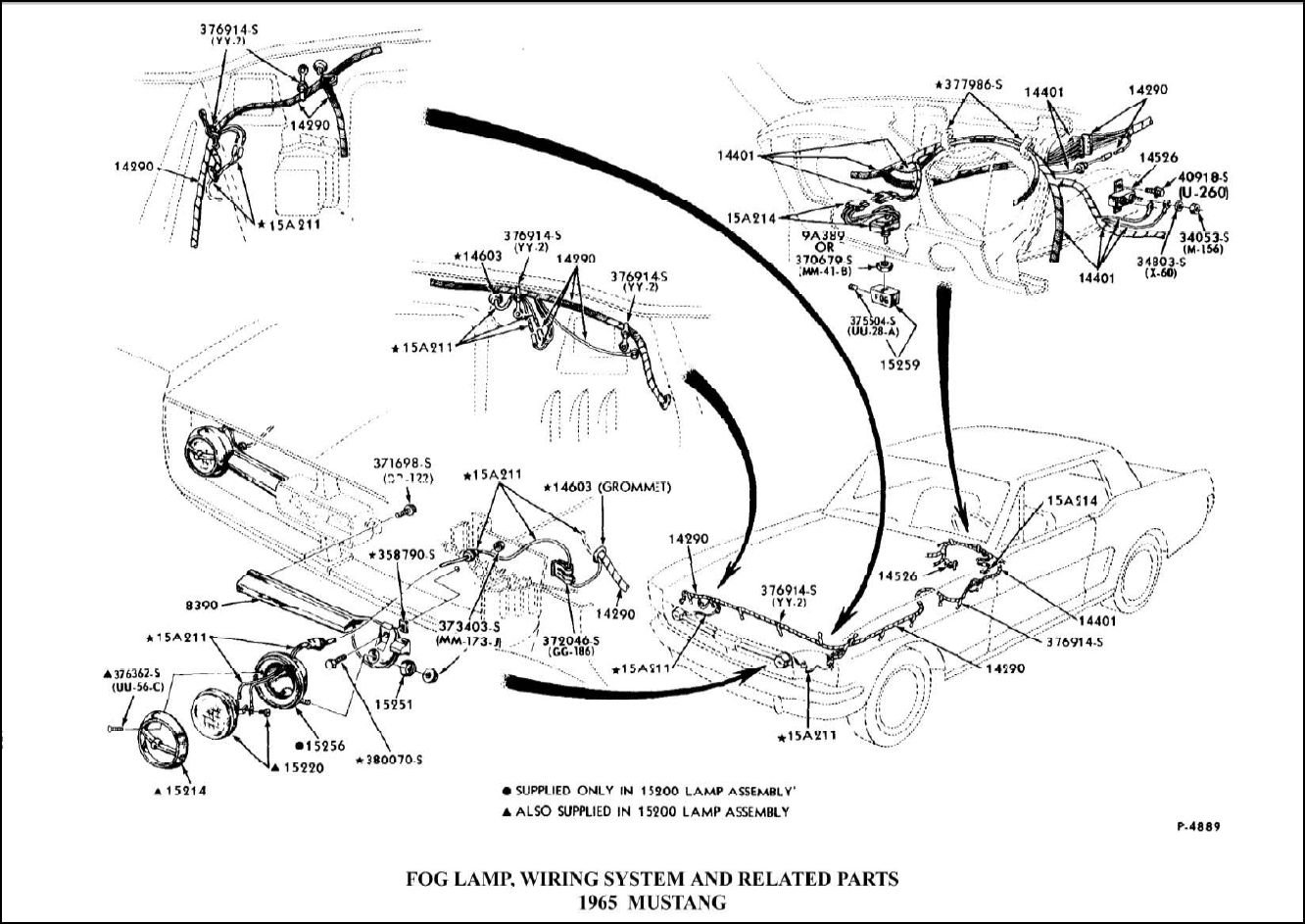 fog lights wiring diagram for 1990 ford mustang
