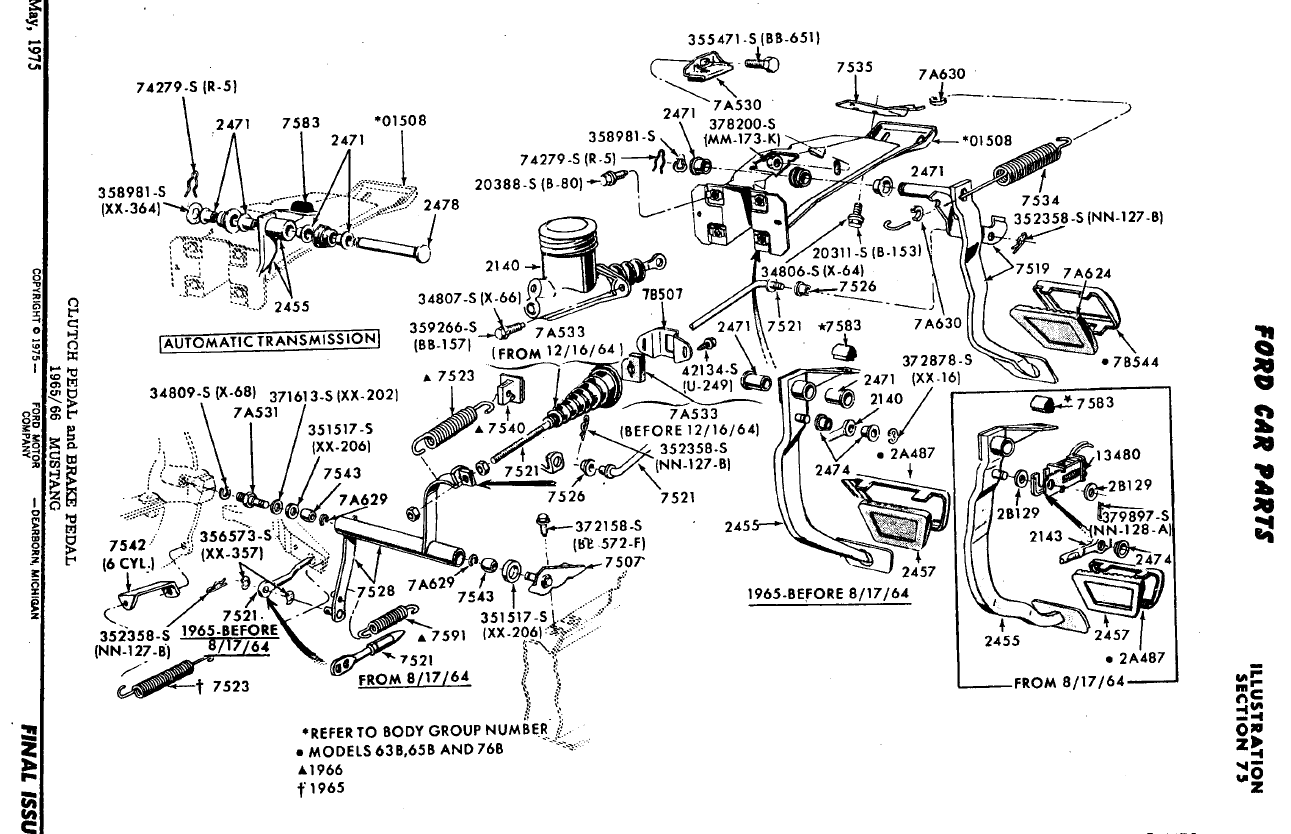 1966 ford mustang parts diagram