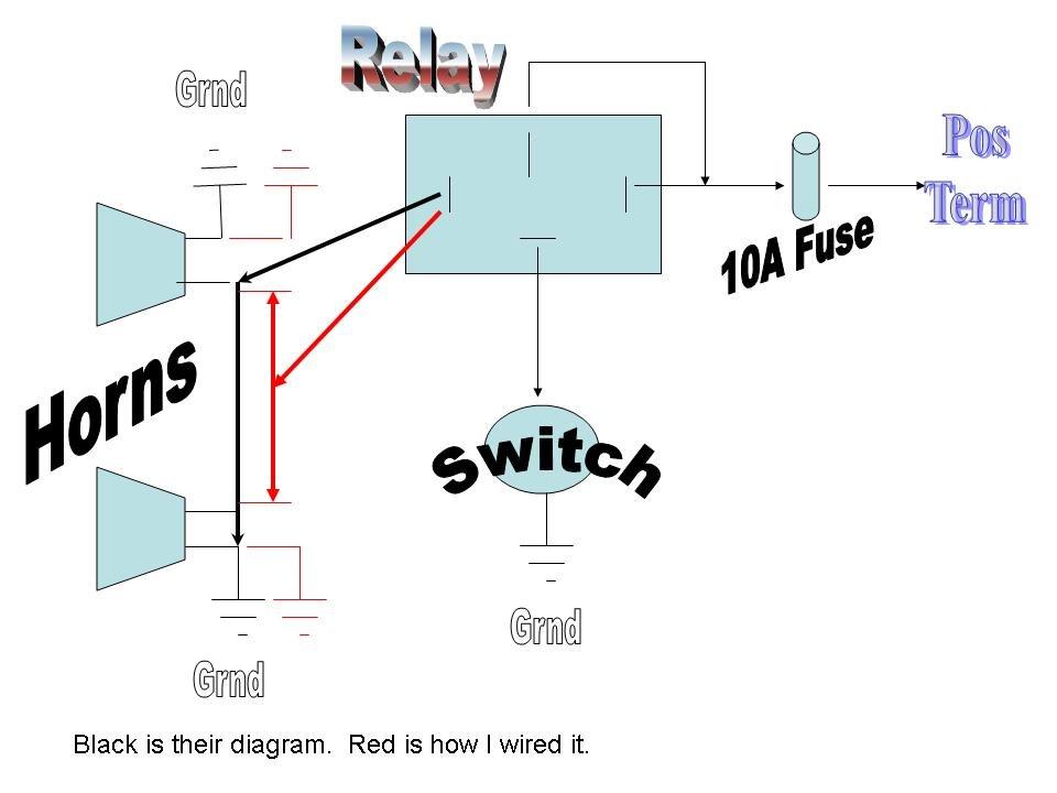 car alarm relay wiring diagram 12 volt air horn