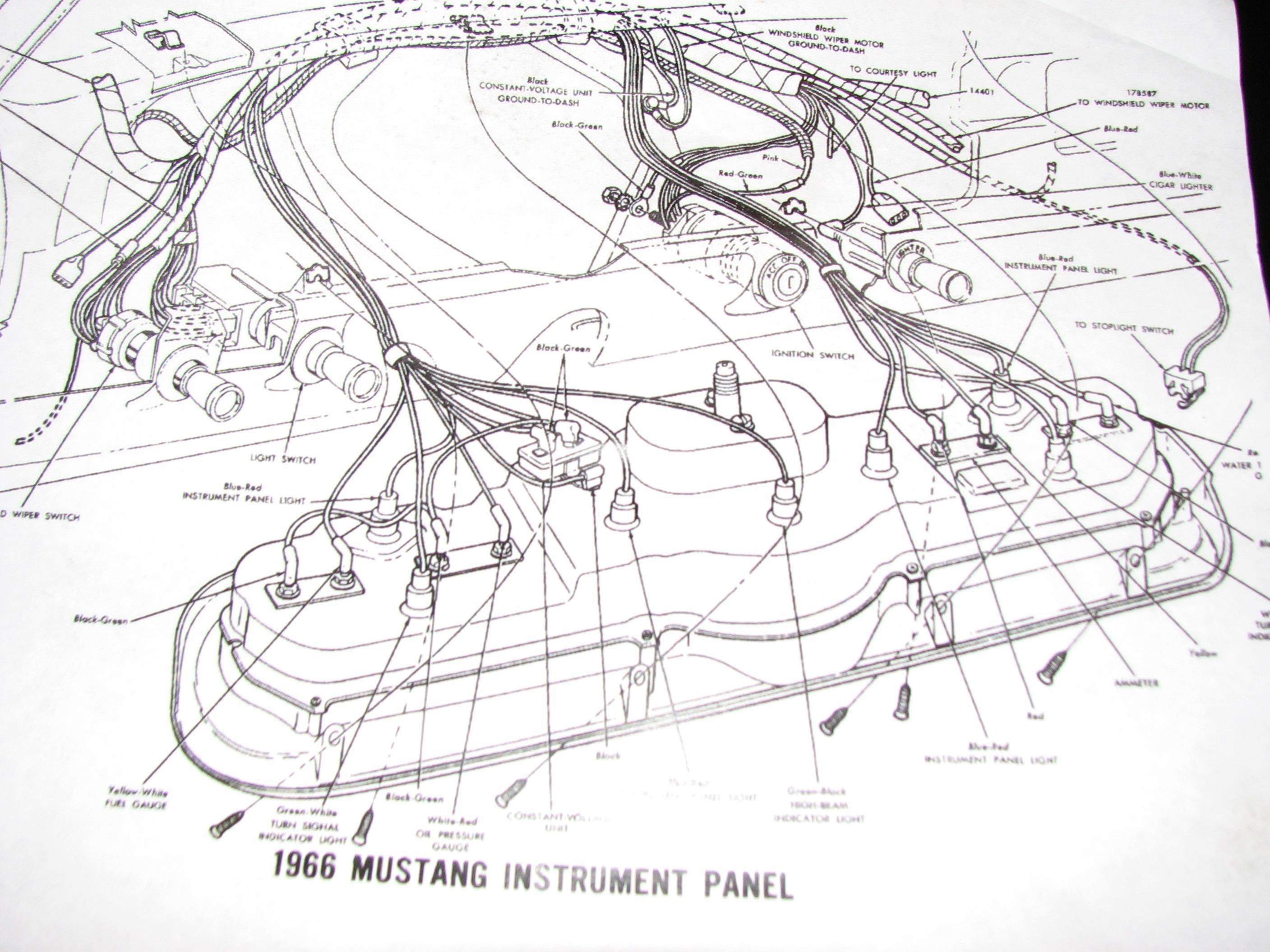 1966 mustang light wiring diagram
