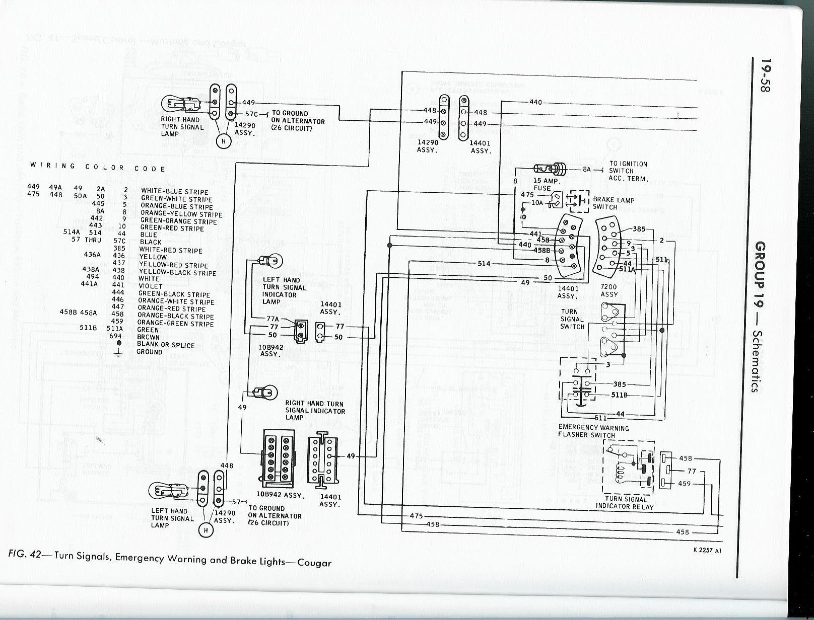 wiring diagram likewise turn signal wiring diagram on 1965 mustang