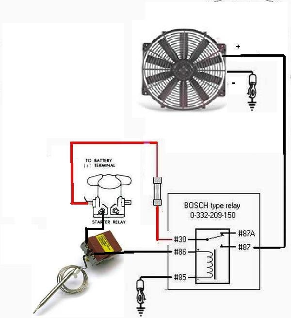 cooling fans wiring diagram components