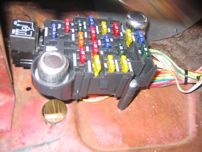 2007 Ford Fuse Box Mounting Painless Fuse Panel On 1966 Mustang Coupe Ford