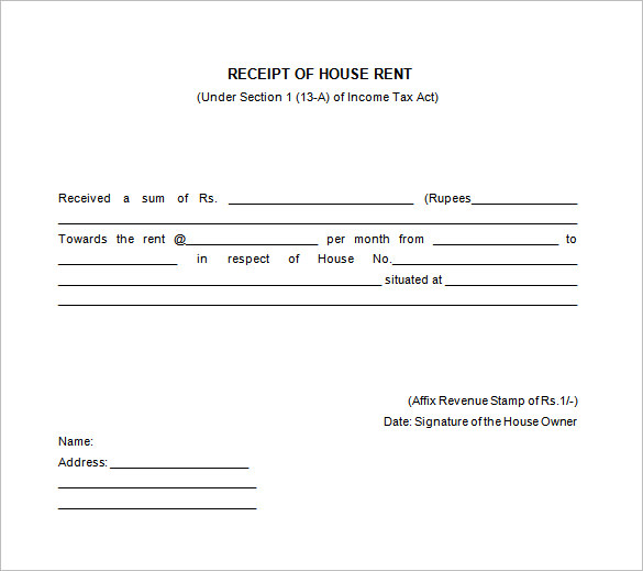Free Receipt Printable Template for Excel , word, pdf Formats All