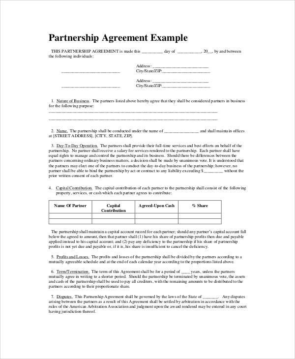 Partnership Agreement Templates and Tips, Business Partnership