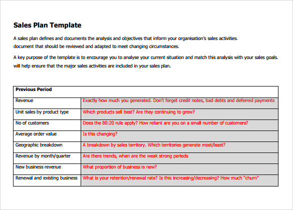 Free Sales Plan Templates, Samples, Formats, 40+ Examples Downloads