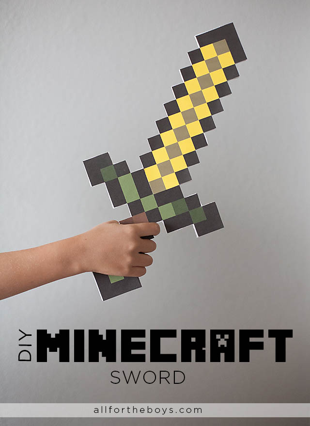 Minecraft Diamond Papercraft Big Sword Pictures 6 If your kids are as enthralled with the pixelated world of Minecraft x