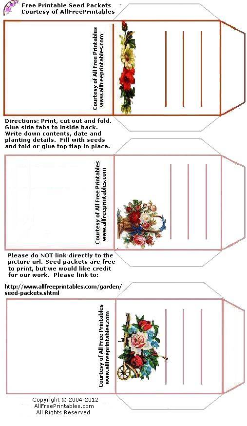 picture regarding Free Printable Seed Packets named Donut Seeds Printable Seed Packet