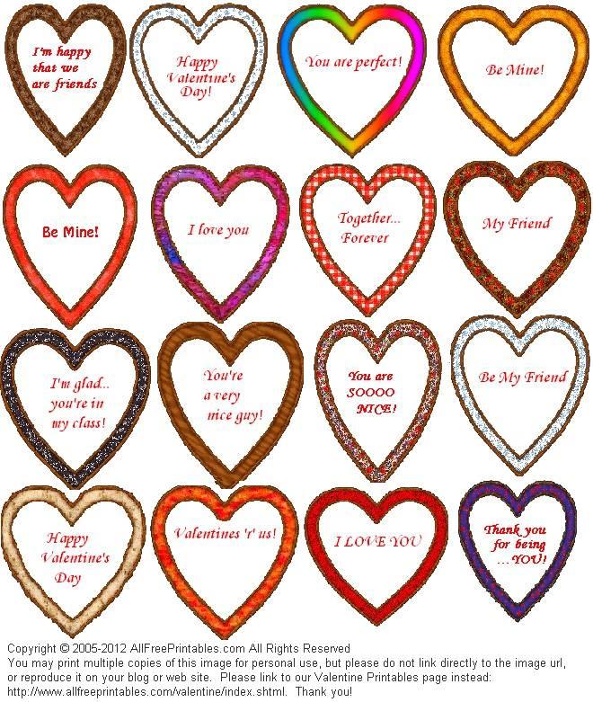 Valentine Printables - Coupons, Bookmarks, Baskets, Valentines