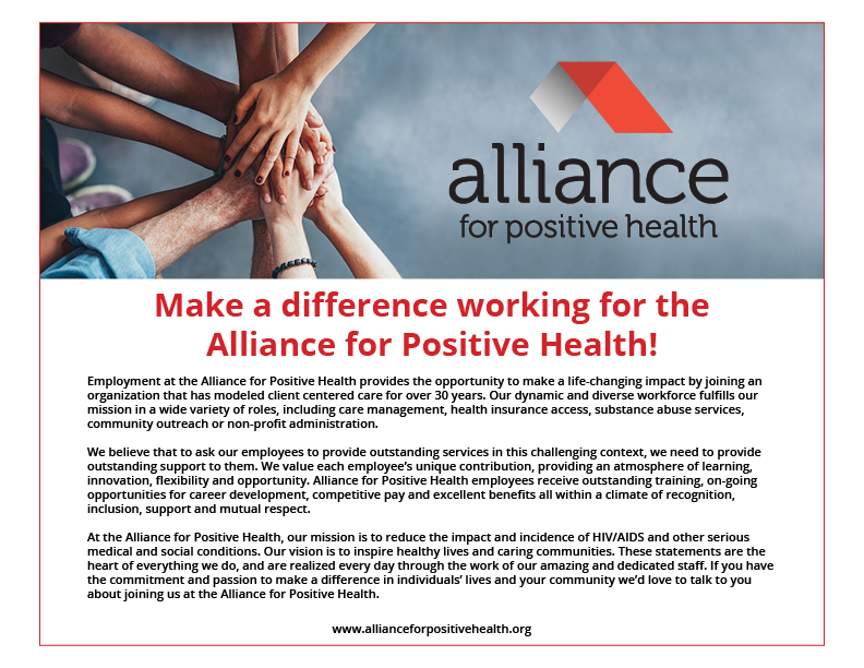 Alliance for Positive Health  Employment