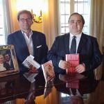 Il presidente Adriano Rigoli e il vicepresidente Marco Capaccioli a Casa Pavarotti 2015-1