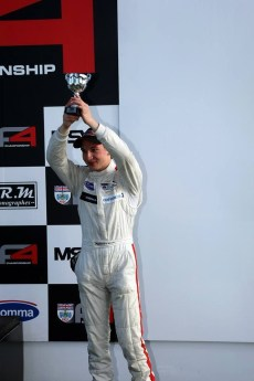Matteo Stands on the podium for the first time in his career at Snetterton in the BDRC F4 Winter Championship