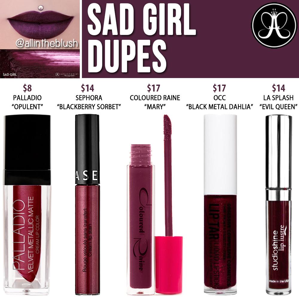 Anastasia Beverly Hills Craft Liquid Lipstick Dupes - All