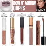 Kat Von D Bow N' Arrow Everlasting Liquid Lipstick Dupes