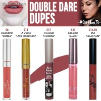 Kat Von D Double Dare Everlasting Liquid Lipstick Dupes