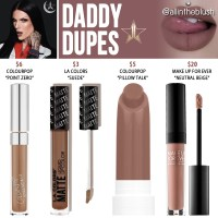 Jeffree Star Daddy Velour Liquid Lipstick Dupes