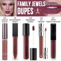 Jeffree Star Family Jewels Velour Liquid Lipstick Dupes [Summer 2017]