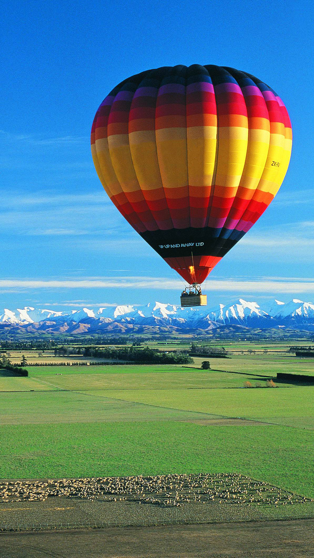 3d Love Quotes Wallpapers Hot Air Balloon Iphone Wallpaper Hd
