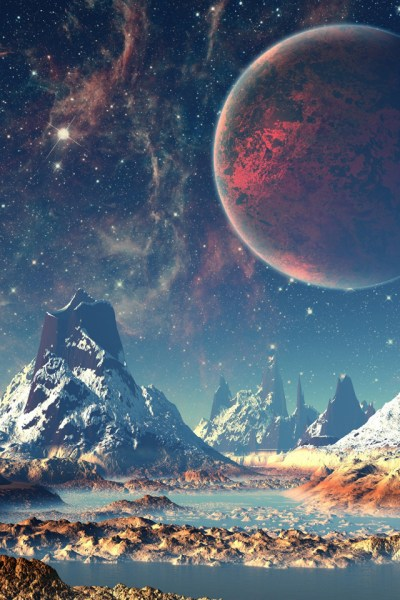Scifi Landscape iPhone Wallpaper HD