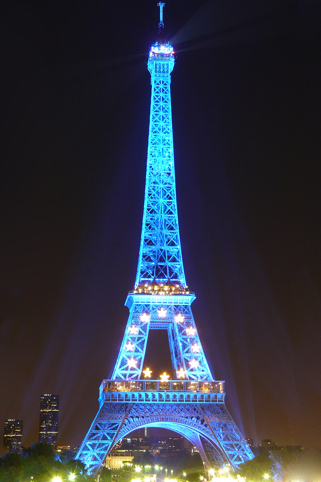 Iphone 5s Wallpaper Anime Eiffel Tower Blue Iphone Wallpaper Hd
