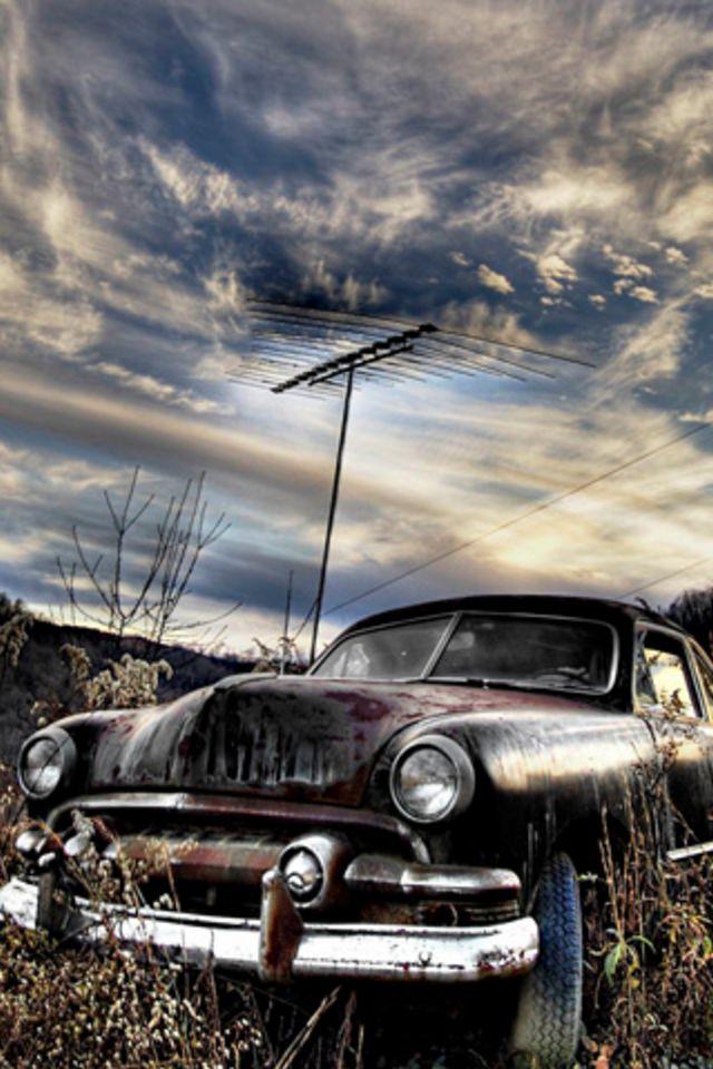 Muscle Car Wallpaper Iphone 6 Rusty Car Iphone Wallpaper Hd